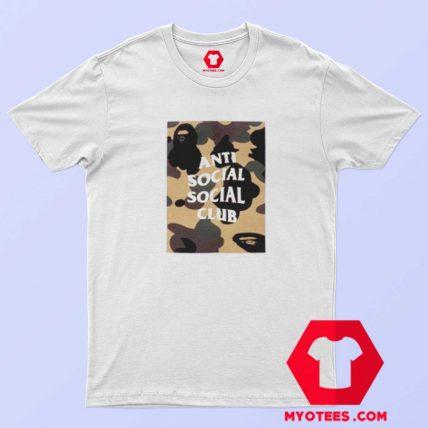 Bathing Ape x Anti Social Club Box Camo T Shirt