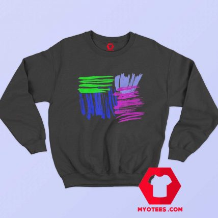 Color Splash Trendy 80s 90s Vintage Design Sweatshirt