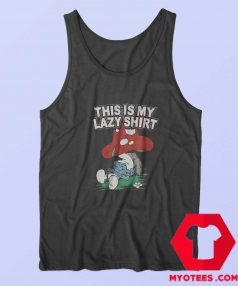 Cute Freeze The Smurfs This is My Lazy Shirt Tank Top