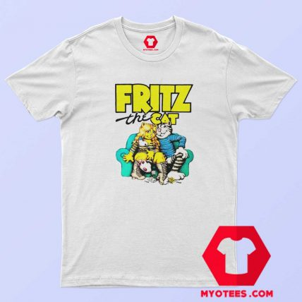Fritz The Cat Retro Adult Cartoon Fan T Shirt