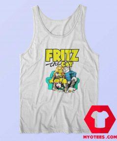 Fritz The Cat Retro Adult Cartoon Fan Tank Top