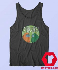 Funny Discuss Game Among Graphic Tank Top