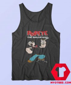 Funny Popeye The Sailor Man Vintage Tank Top