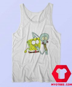 Funny Squidward And Spongebob Fan Art Tank Top