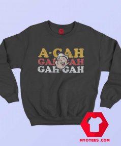 Funny Vintage A Gah Popeye Cartoon Sailor Sweatshirt