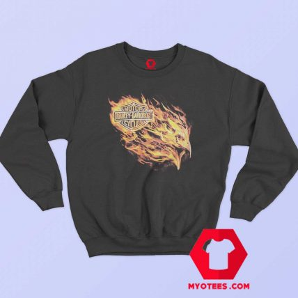 Harley Davidson Blazing Flames Eagle Sweatshirt