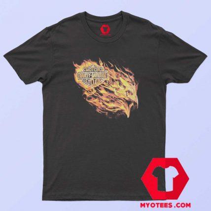 Harley Davidson Blazing Flames Eagle T Shirt
