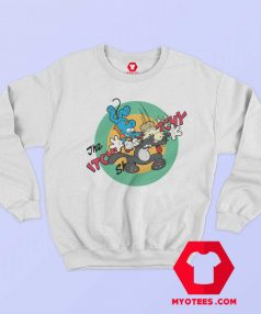 Itchy Scratchy Mouse Cat Krusty Clown Sweatshirt