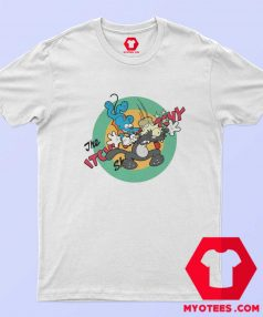 Itchy Scratchy Mouse Cat Krusty Clown T Shirt