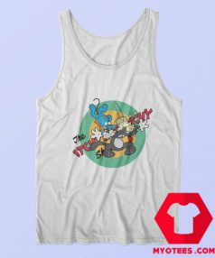 Itchy Scratchy Mouse Cat Krusty Clown Tank Top
