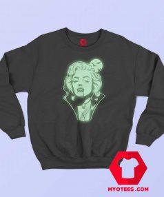 Marilyn Monroe Vampire In The Dark Haloween Sweatshirt