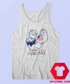 Popeye Sailor Patriotic Always Strong Tank Top