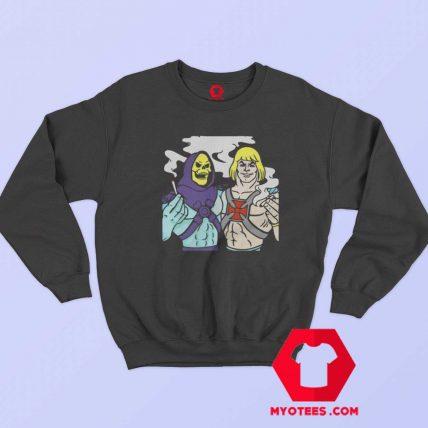 Skeletor Parody Weed Cannabis Smoking Sweatshirt