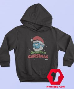 Smurf Grouchy at Christmas Crackle Unisex Hoodie