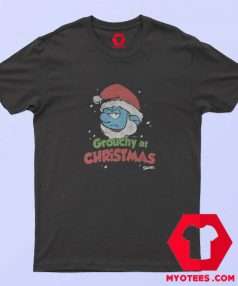 Smurf Grouchy at Christmas Crackle Unisex T Shirt