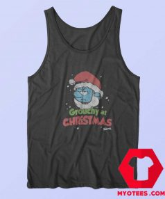 Smurf Grouchy at Christmas Crackle Unisex Tank Top