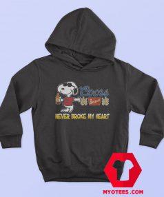 Snoopy Beer Never Broke My Heart Hoodie