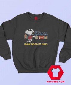 Snoopy Beer Never Broke My Heart Sweatshirt