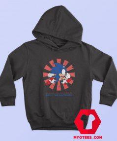 Sonic Hedgehog Hero Cartoon Vintage Hoodie