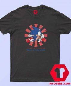 Sonic Hedgehog Hero Cartoon Vintage T Shirt