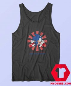 Sonic Hedgehog Hero Cartoon Vintage Tank Top