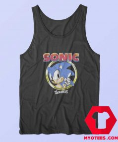 Sonic The Hedgehog Pointing Finger Sega Tank Top