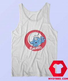 The Smurfs Smiling Circle Logo Image Tank Top