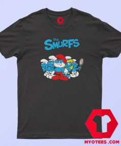 The Smurfs TV Series Animated Poster T Shirt