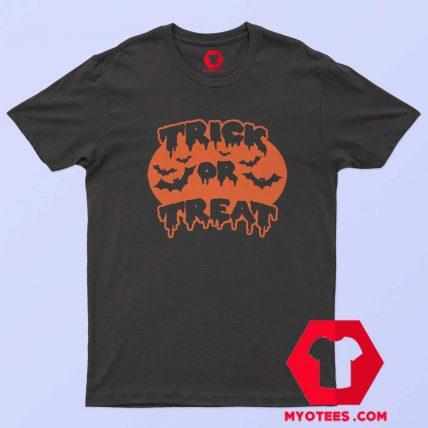 Trick or Treat Tanktop Pumpkin Halloween T Shirt