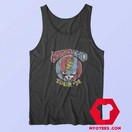 Vintage Grateful Dead Tour 74 Unisex Tank Top