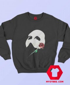 Vintage Phantom Red Rose Opera Mask Sweatshirt