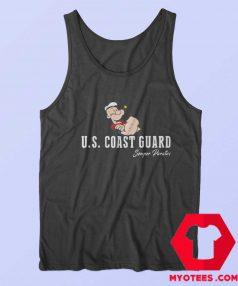 Vintage Popeye The Sailor US Coast Guard Tank Top