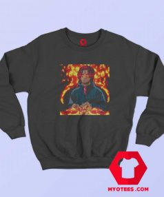 Vintage Rapper Trippy Redd Fire Art Sweatshirt