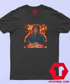 Vintage Rapper Trippy Redd Fire Art Unisex T Shirt