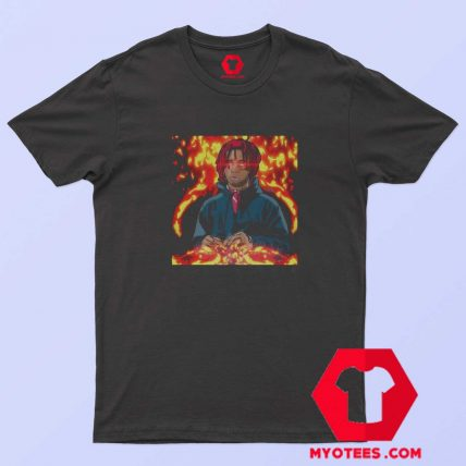 Vintage Rapper Trippy Redd Fire Art Unisex T Shirt
