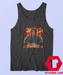 Vintage Rapper Trippy Redd Fire Art Unisex Tank Top