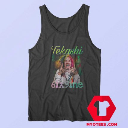 Vintage Tekashi 6ix9ine American Rapper Tank Top