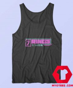Ariana Grande 7 Rings Pink Logo Japan Tank Top