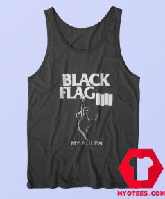 Black Flag My Rules Punk Band Tank Top