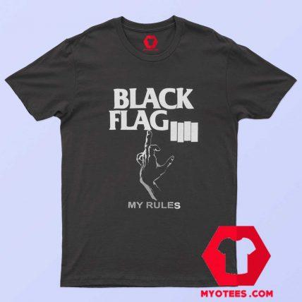 Black Flag My Rules Punk Band Unisex T Shirt