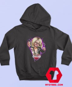 Childs Play Neon Chucky and Tiffany Hoodie