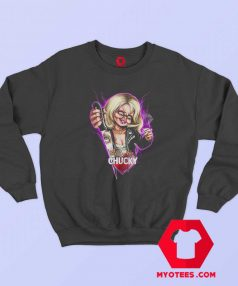 Childs Play Neon Chucky and Tiffany Sweatshirt
