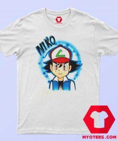 Cool Ash Ketchum Airbrushed Unisex Tshirt