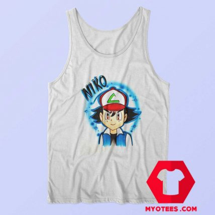Cool Ash Ketchum Airbrushed Unisex Tank Top