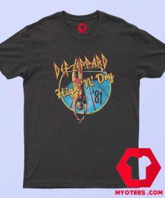 Def Leppard 1981 Album Rock Tour T Shirt