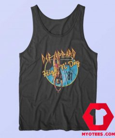 Def Leppard 1981 Album Rock Tour Tank Top