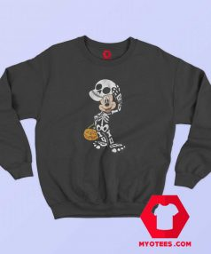 Disney Halloween Micke Mouse Skeleton Sweatshirt
