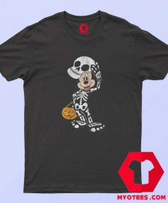 Disney Halloween Micke Mouse Skeleton T Shirt