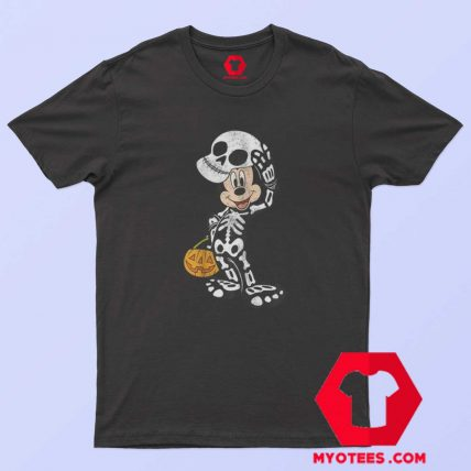 Disney Halloween Micke Mouse Skeleton T Shirt