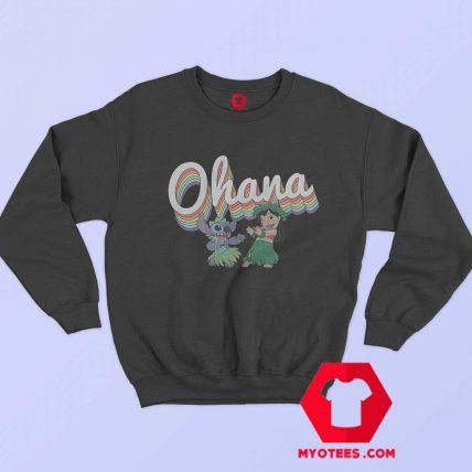 Disney Lilo Stitch Ohana Rainbow Sweatshirt